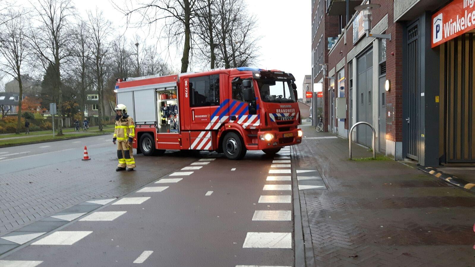 Brandalarm in parkeergarage
