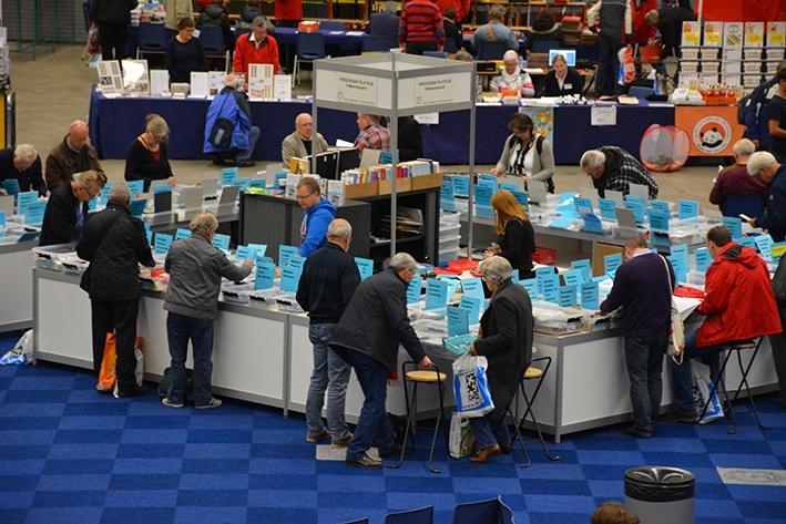 Postzegelshow Postex evenement voor jong en oud