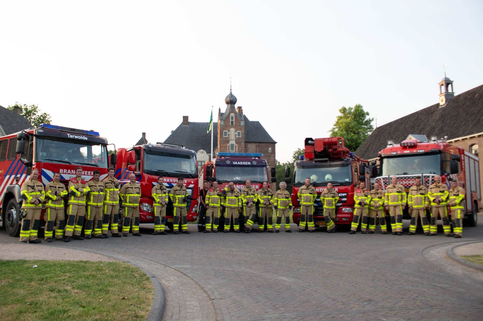 Grootschalige oefening brandweer