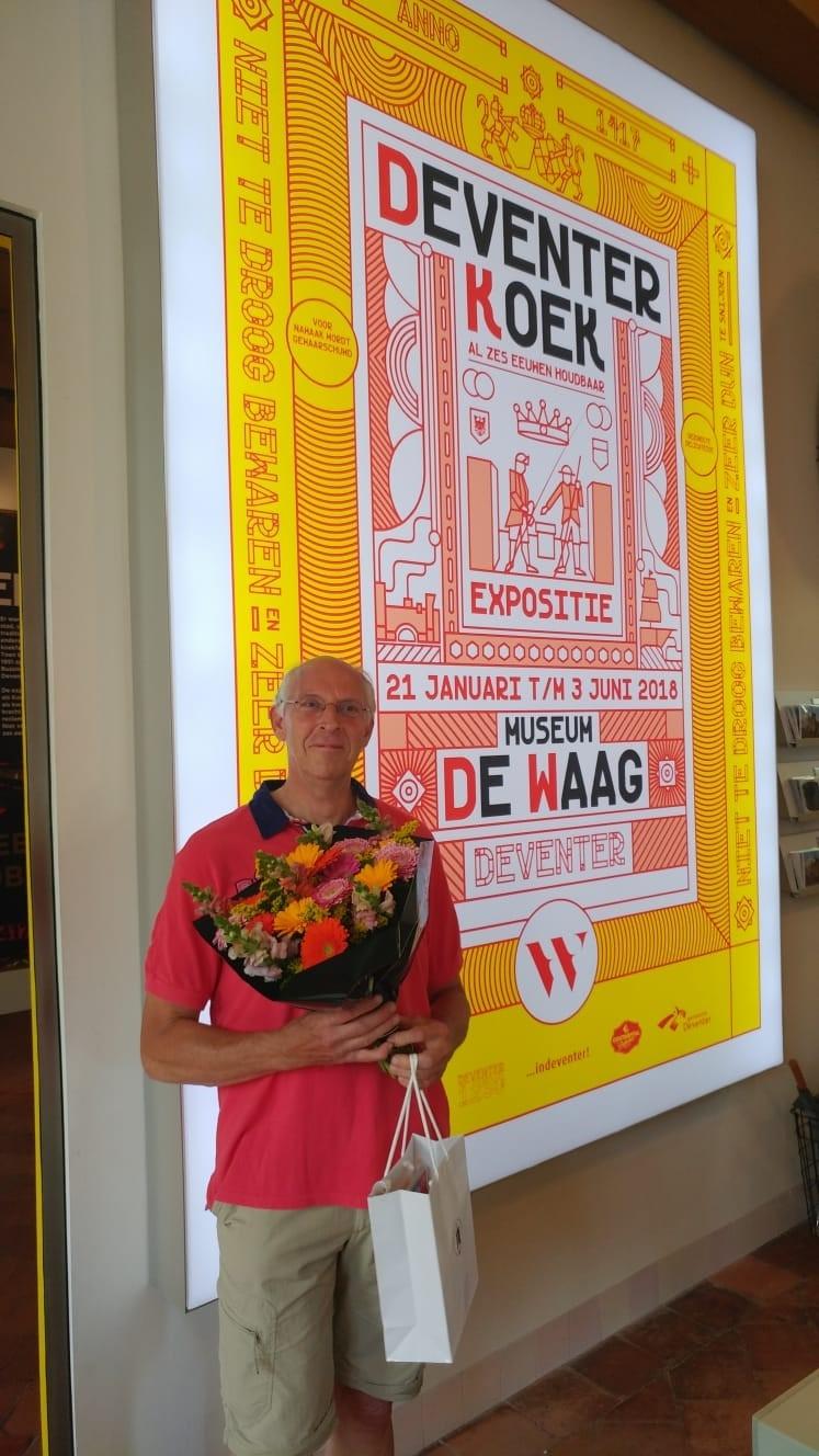 10.000e bezoeker voor tentoonstelling Deventer Koek