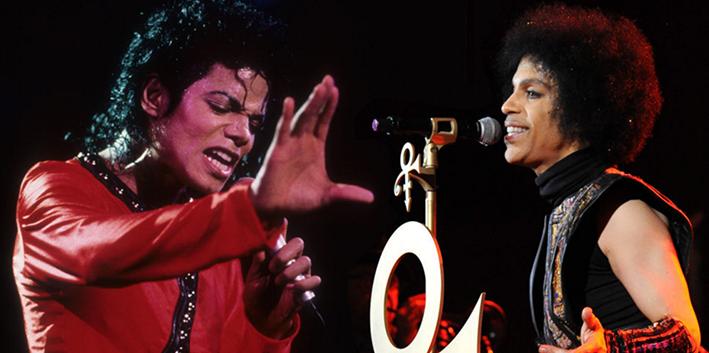 Michael Jackson enPrince op de Brink