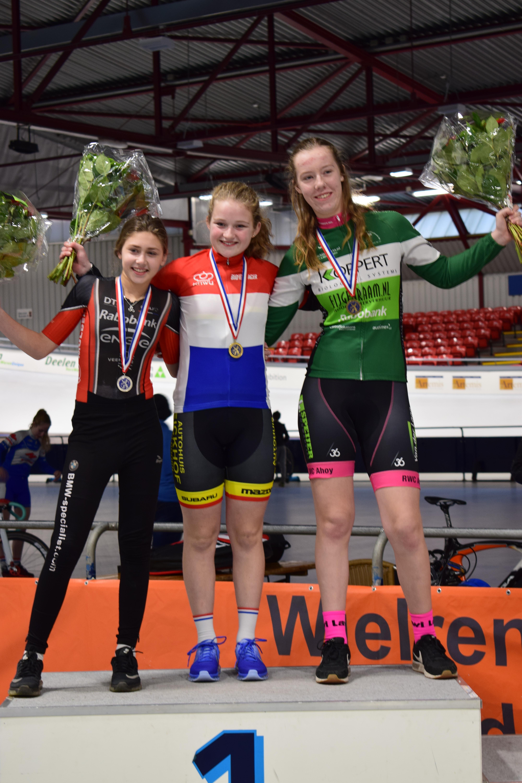 Apeldoornse baanrenster Anniek Wever is Nederlands Kampioen Sprint!