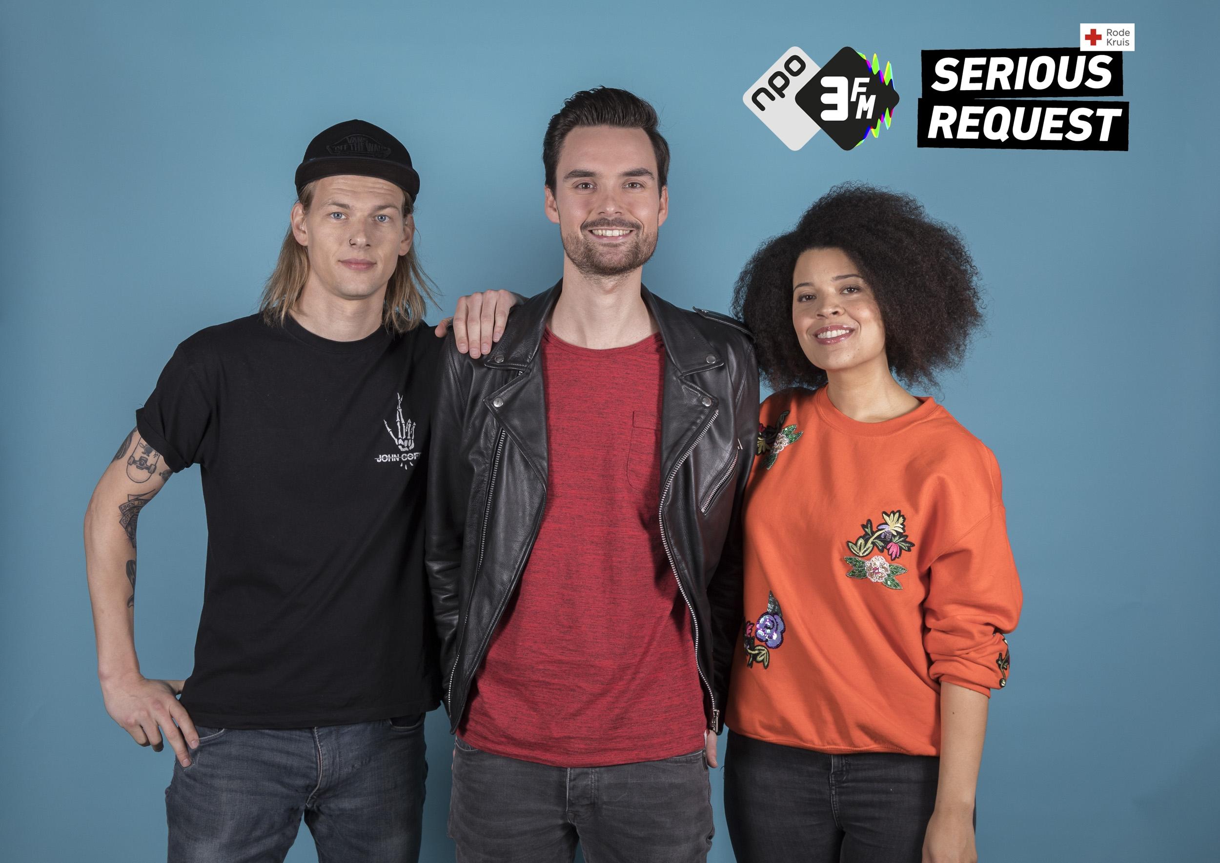 Sander, Domien en Angelique bewoners Glazen Huis