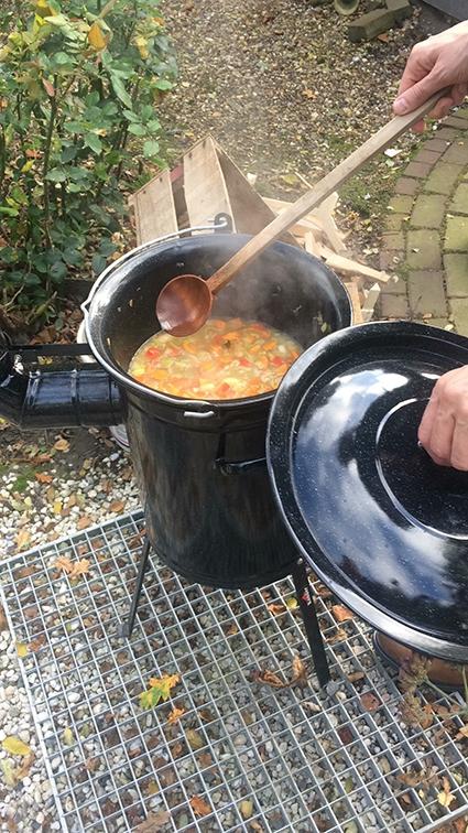Buiten koken kan in ieder seizoen!