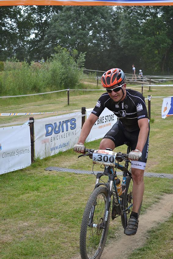 Veluwse mountainbikencompetitie start in Zutphen