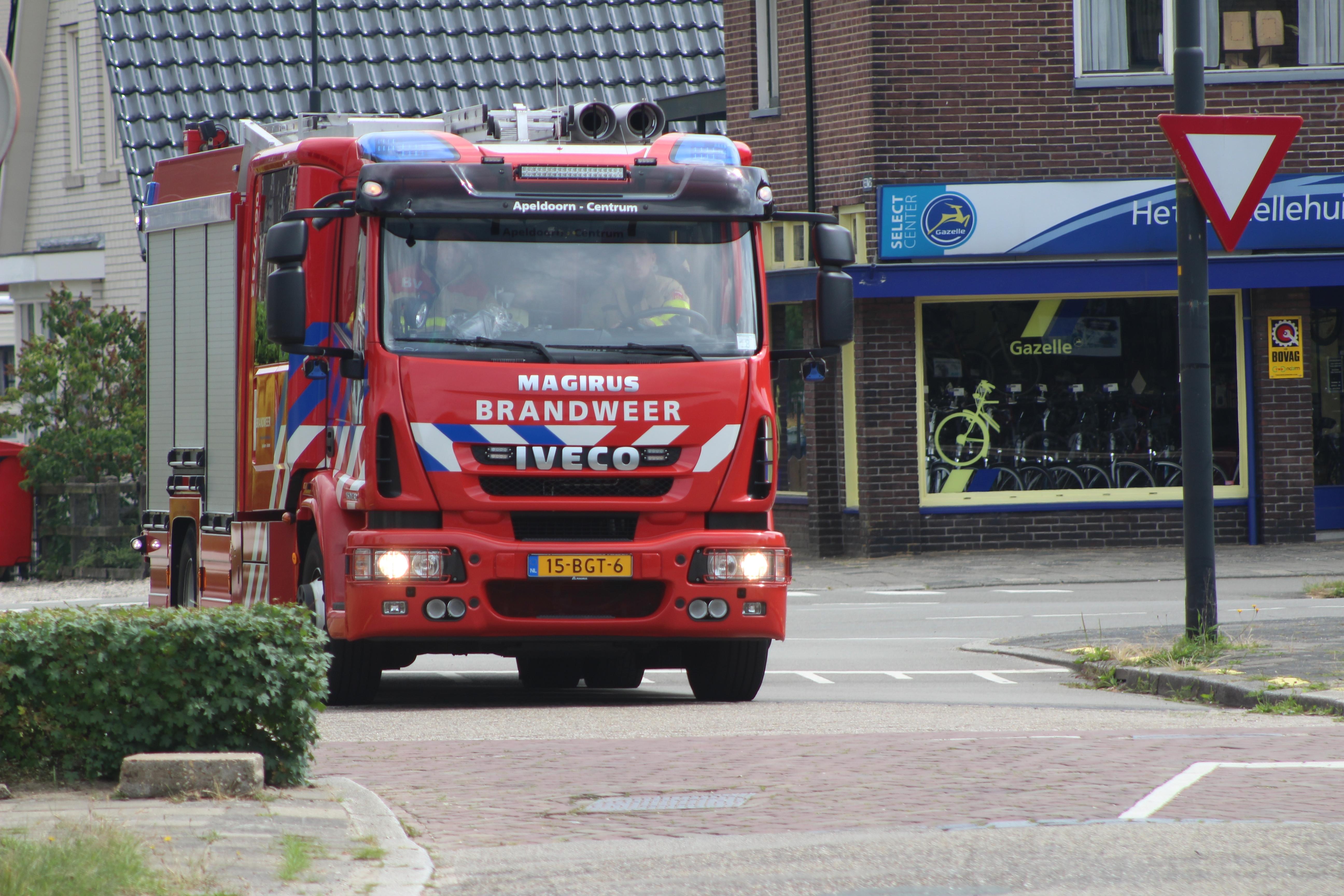 Felle brand in woning Zutphen