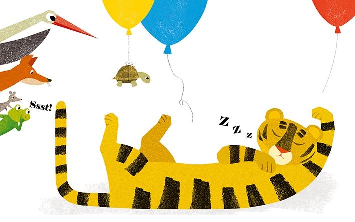 Ssst! De tijger slaapt…