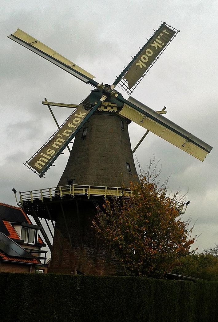 Nieuwe fokkenvoor molen