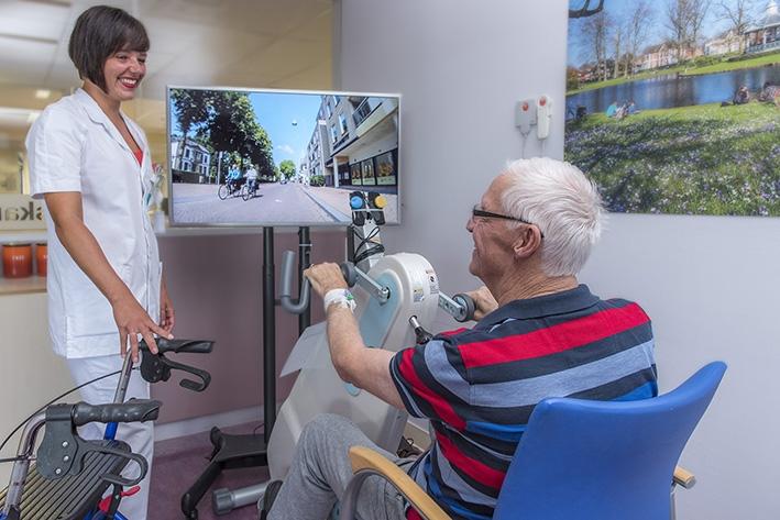 Fietslabyrint houdt patiënten in beweging
