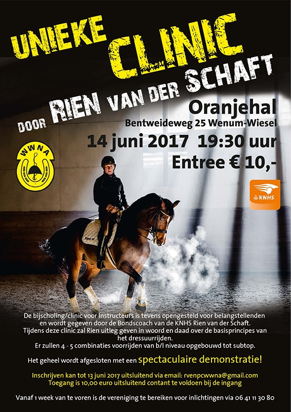 Unieke clinic van bondscoach Rien van der Schaft op de nieuwe bodem!