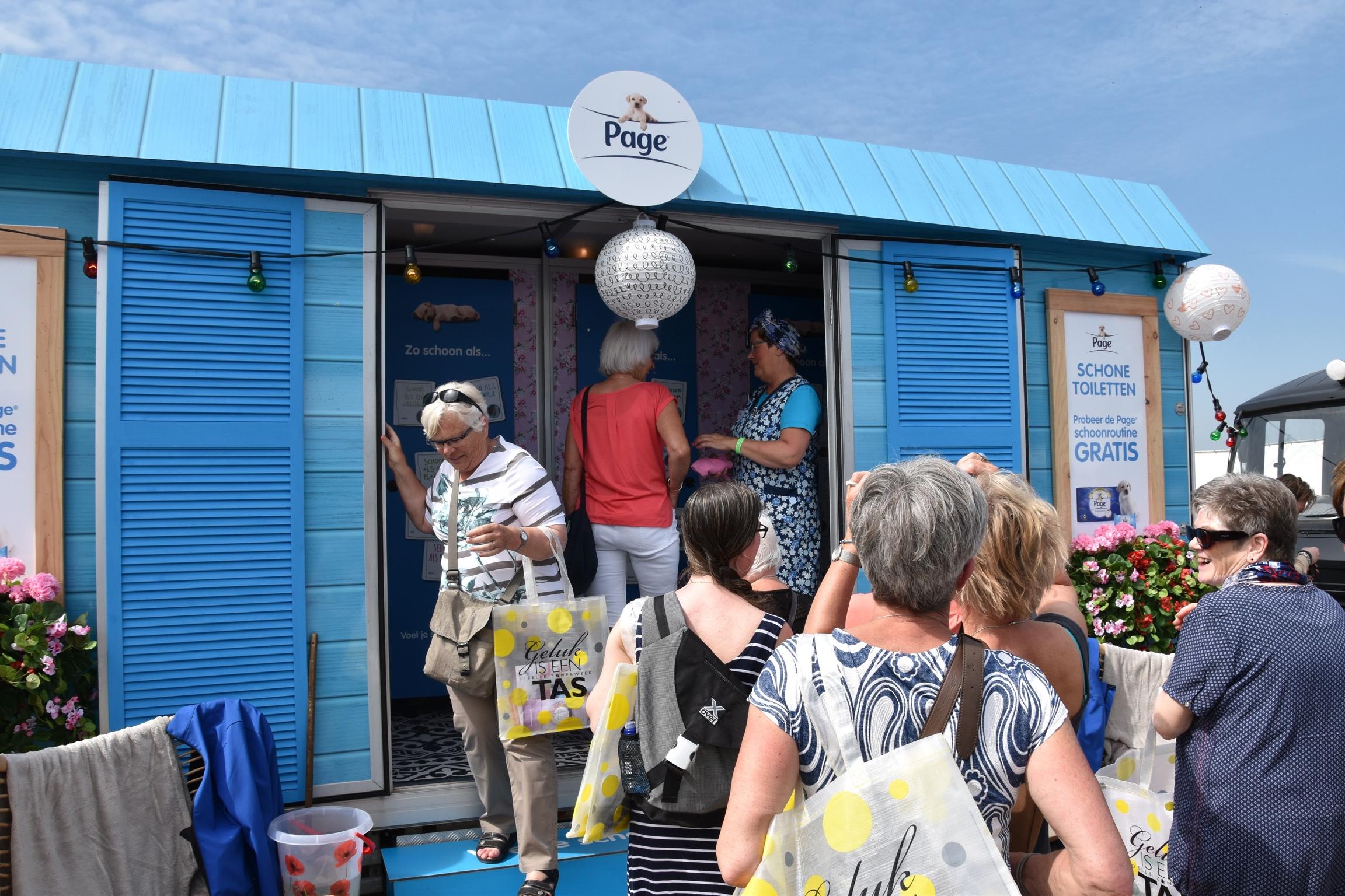 Blauwe loper gaat uit voor bezoekers