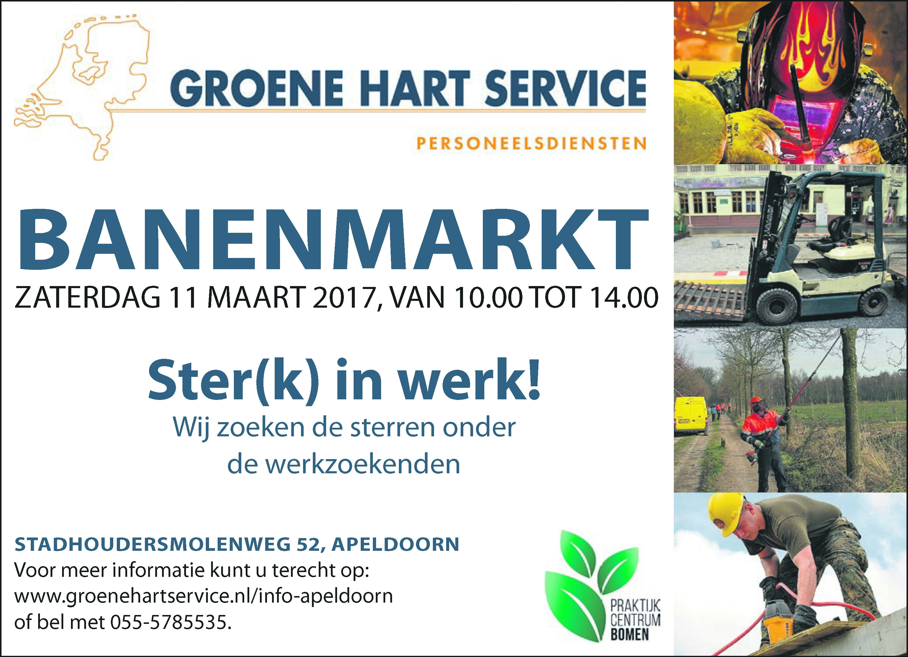 Banenmarkt 11 maart in Apeldoorn