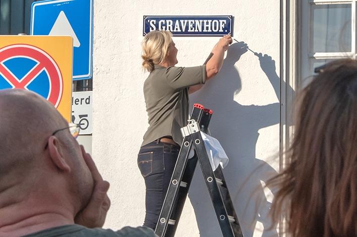 Historische straatnaambordenterug in binnenstad
