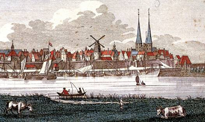 Tentoonstelling met molens van Deventer