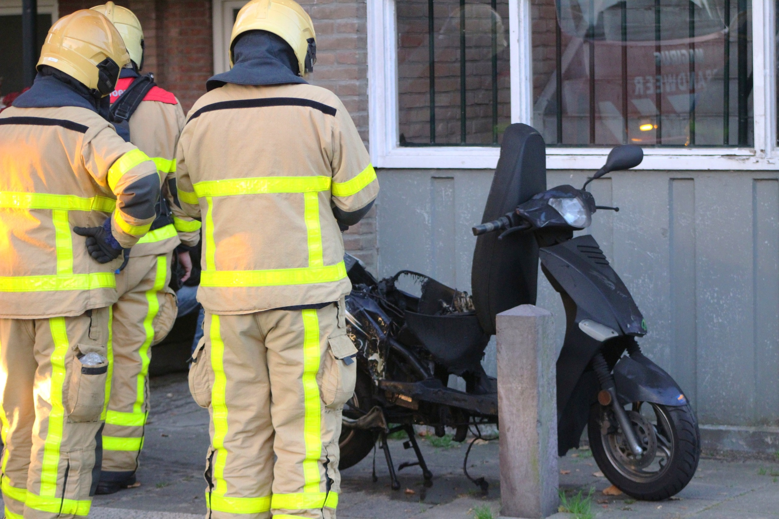 Scooter vat vlam