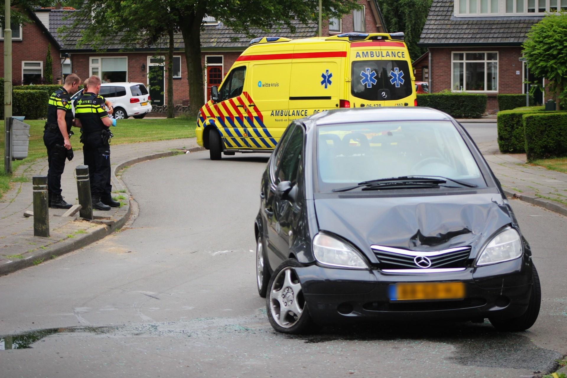 Vrouw gewond bij ongeval