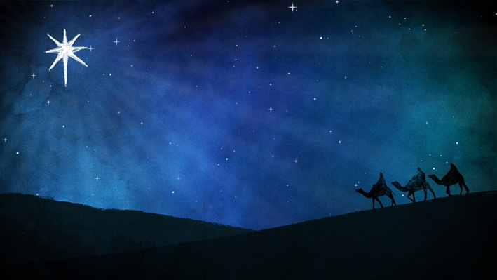 Blik gericht op deSter van Bethlehem