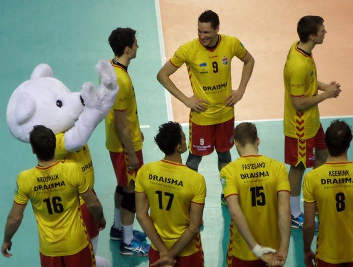 Volleyballers Draisma Dynamo leggen lat steeds hoger