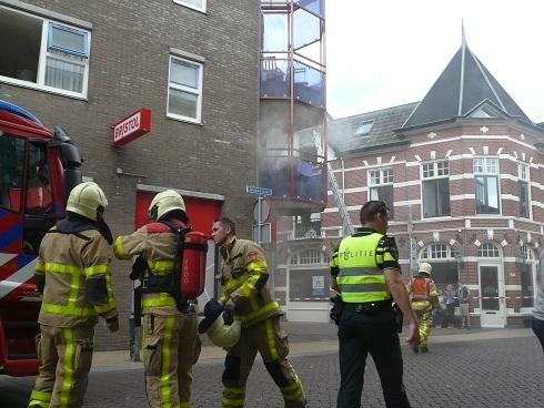Grote woningbrand in Centrum van Apeldoorn