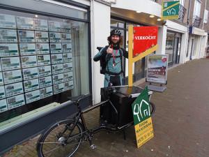Makelaar kiest voor snelle fietskoerier