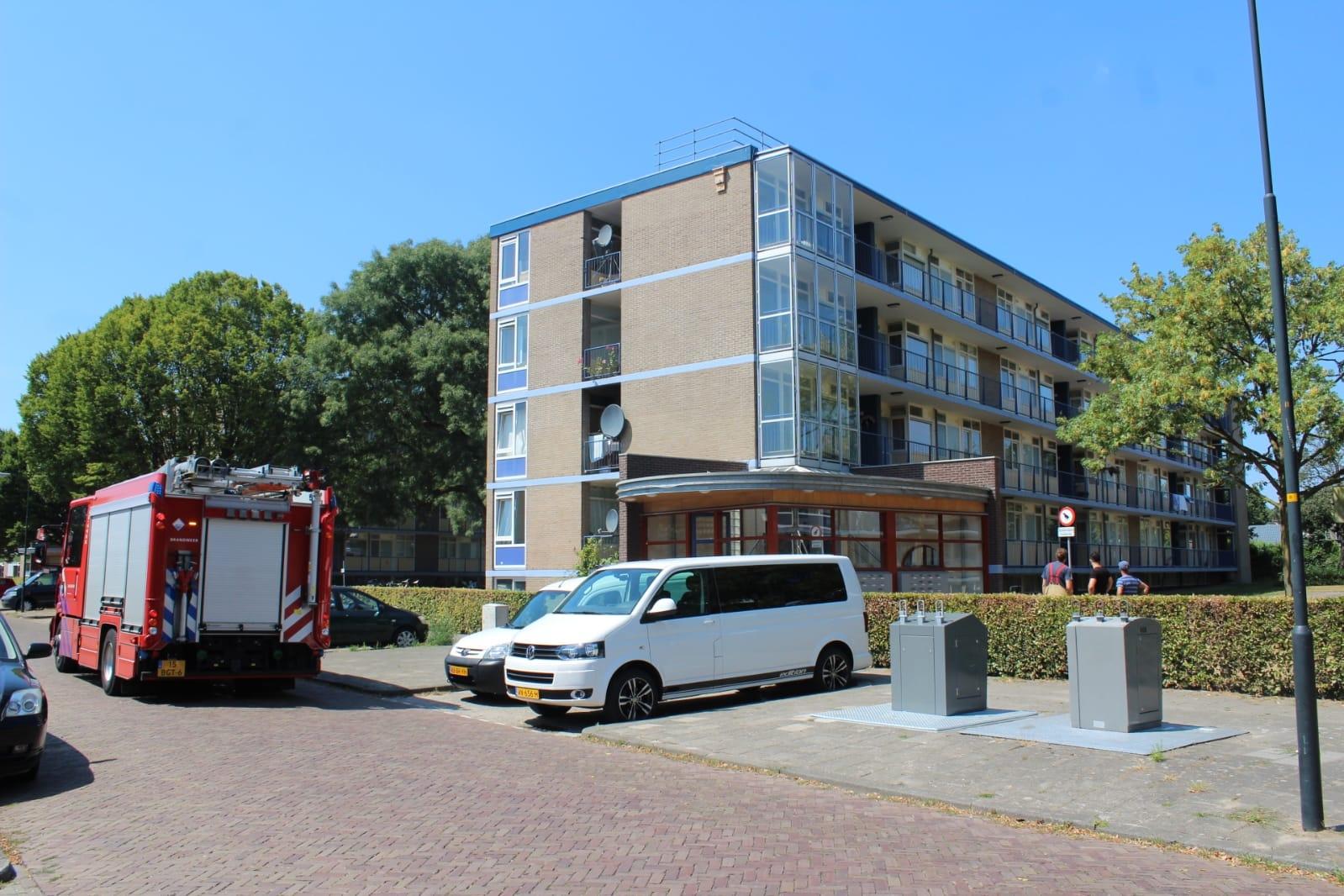 Brandlucht in flat