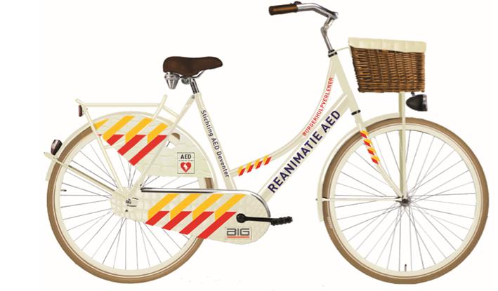 Hulpverlener op fiets sneller naar reanimatie