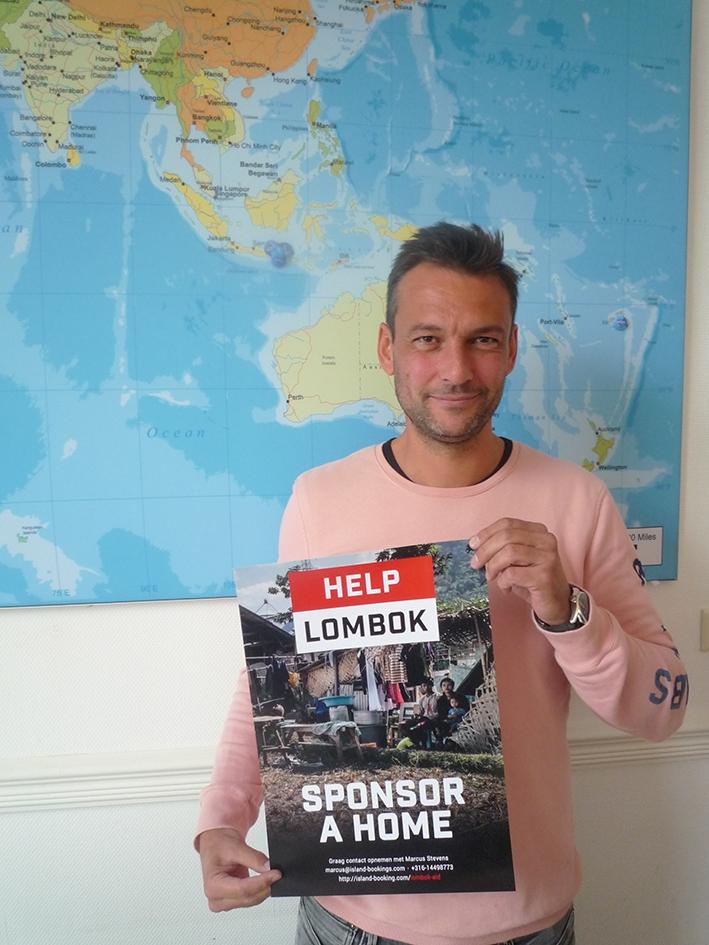 'Help de getroffen inwoners van Lombok!'