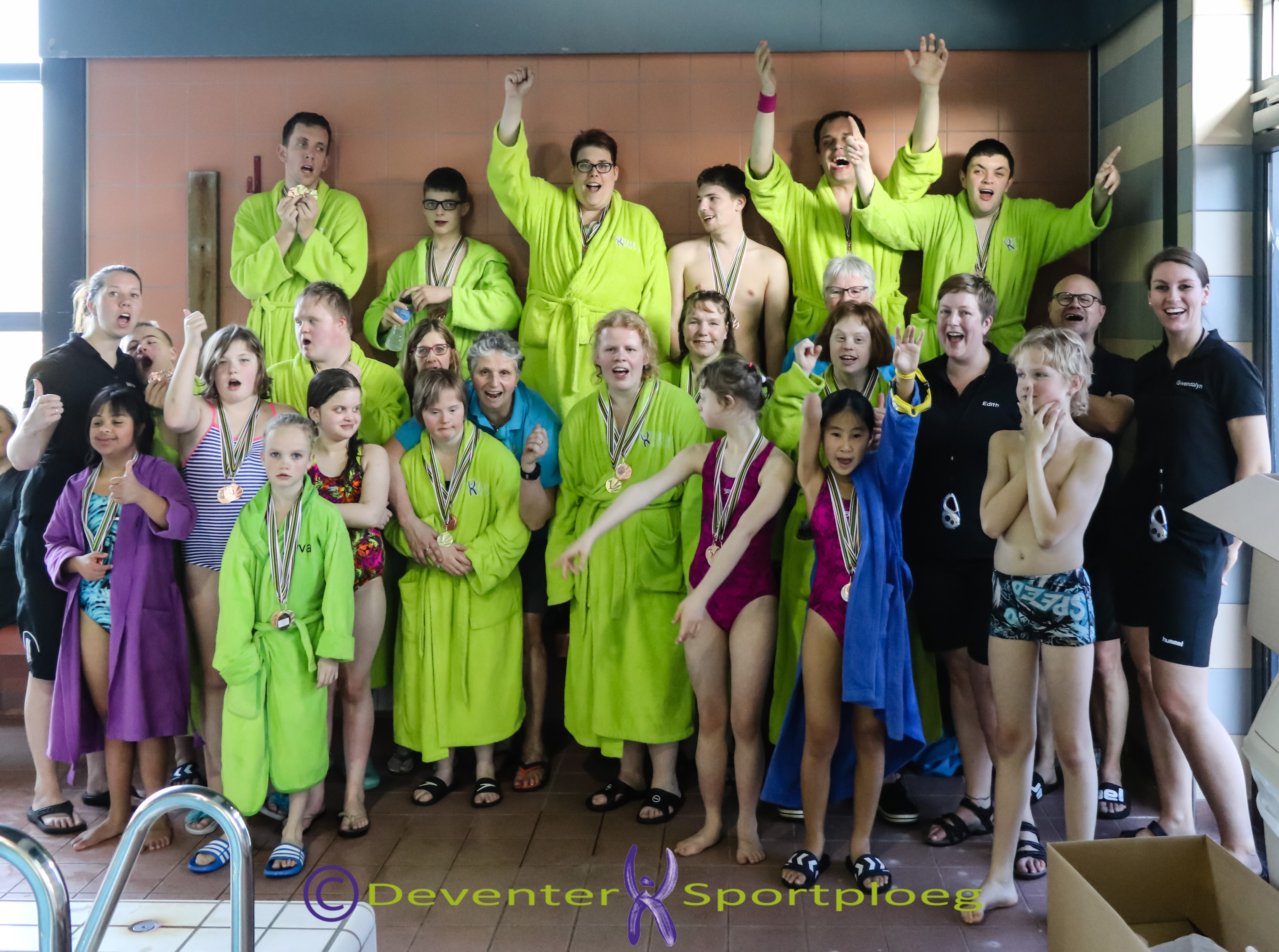 Veel medailles bij zwemwedstrijden De Klup