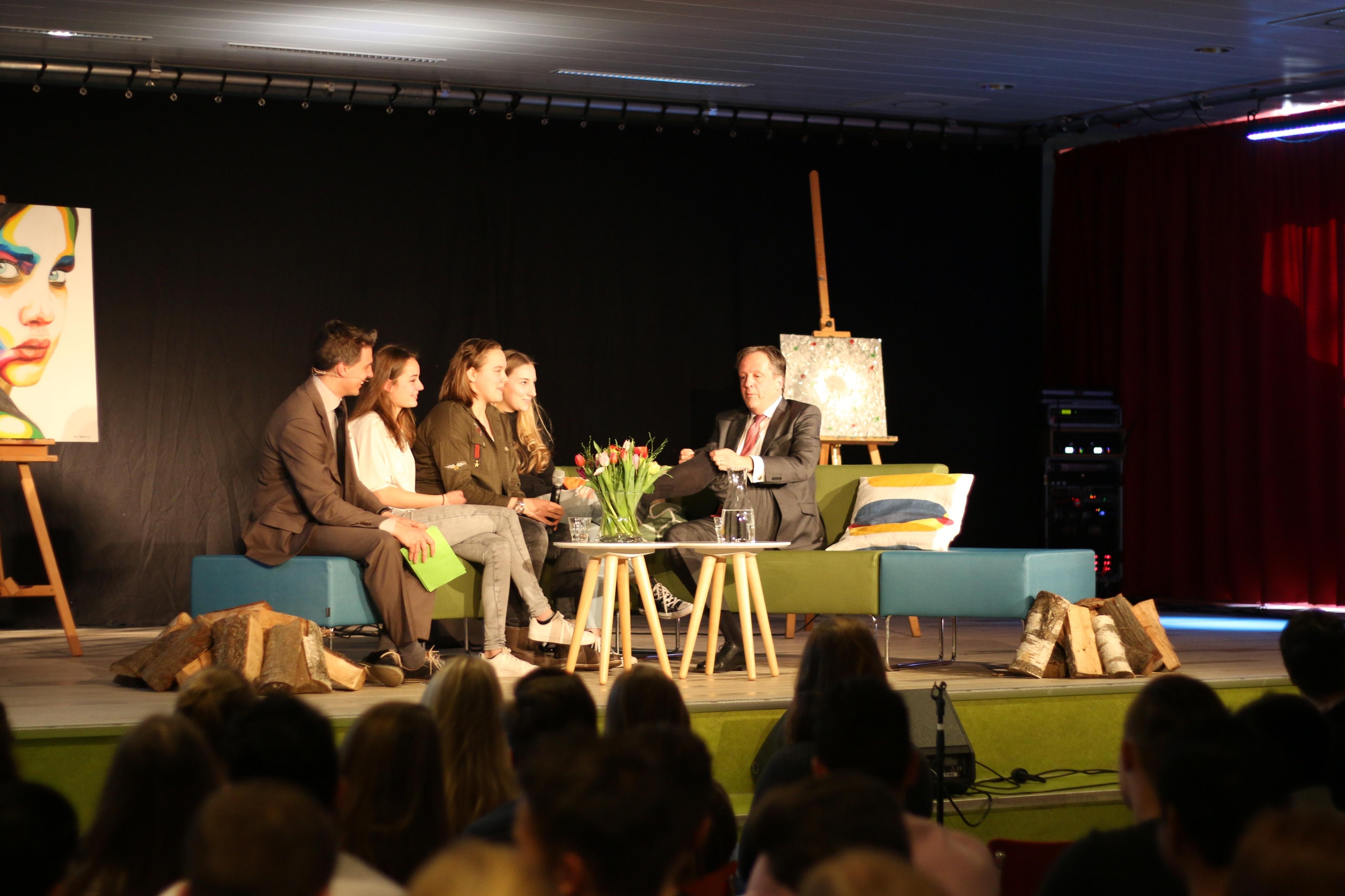 College Tour met Alexander Pechtold op Walterbosch