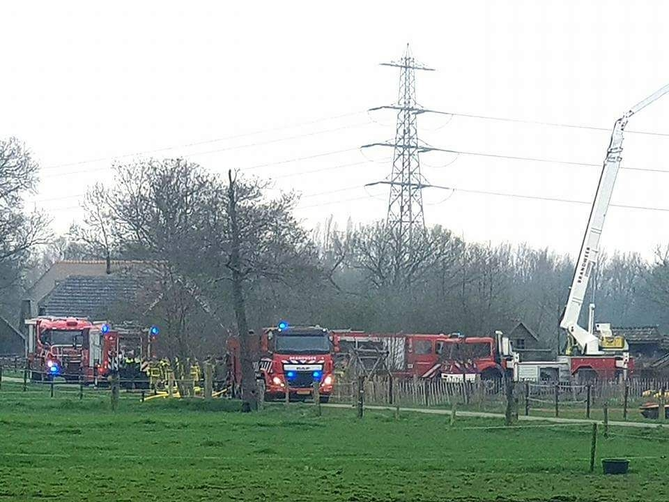 Grote brand in woning
