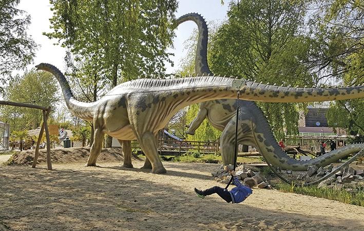 Dino's komen tot leven in Dinoland Zwolle