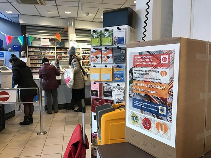 DE-bonnen voor Voedselbank