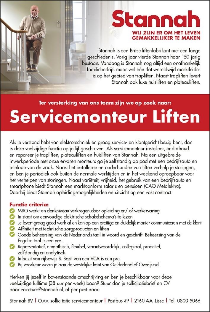 Servicemonteur Liften