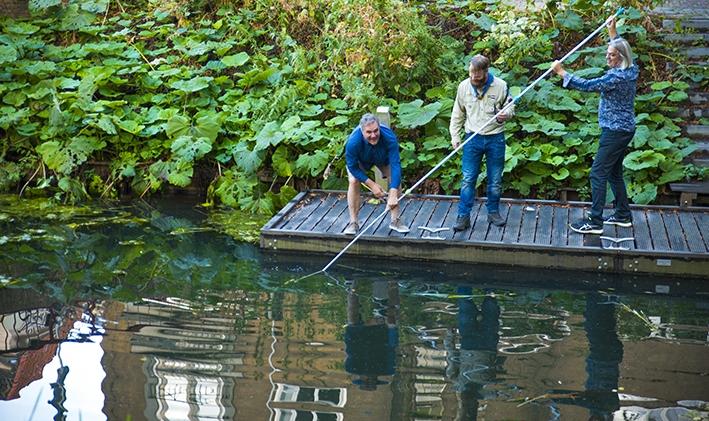 Bruggenbouwers op de Berkel