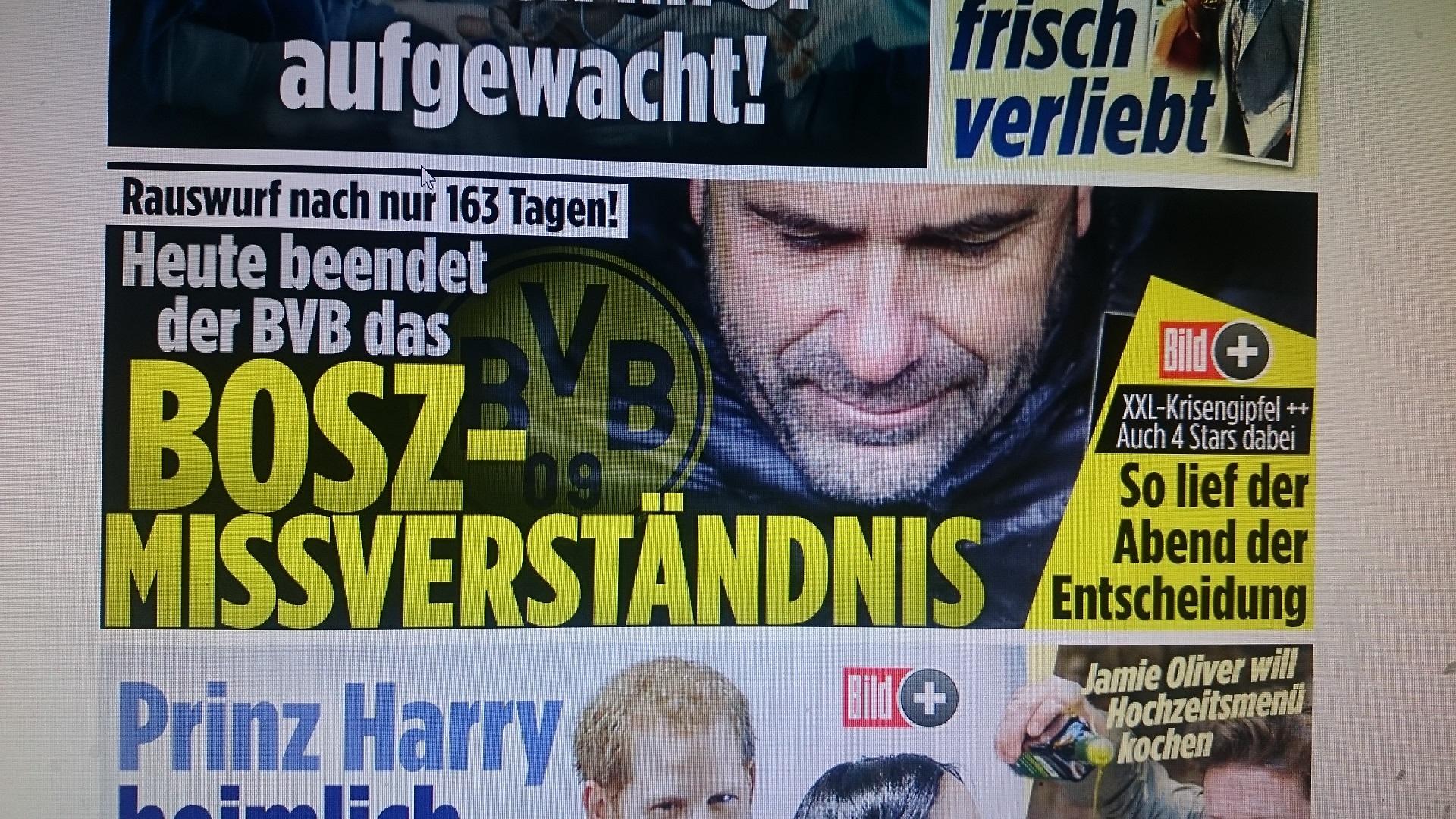 Bundesliga-avontuur Bosz na 163 dagen alweer voorbij