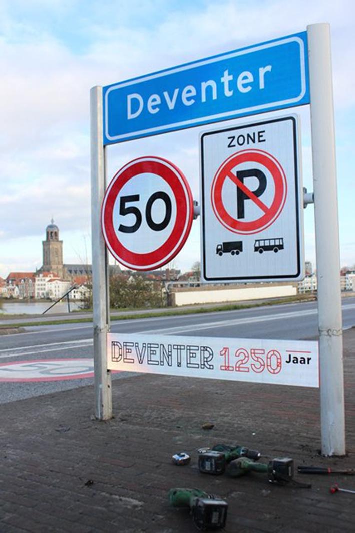 Jubileum stad Deventer goed zichtbaar