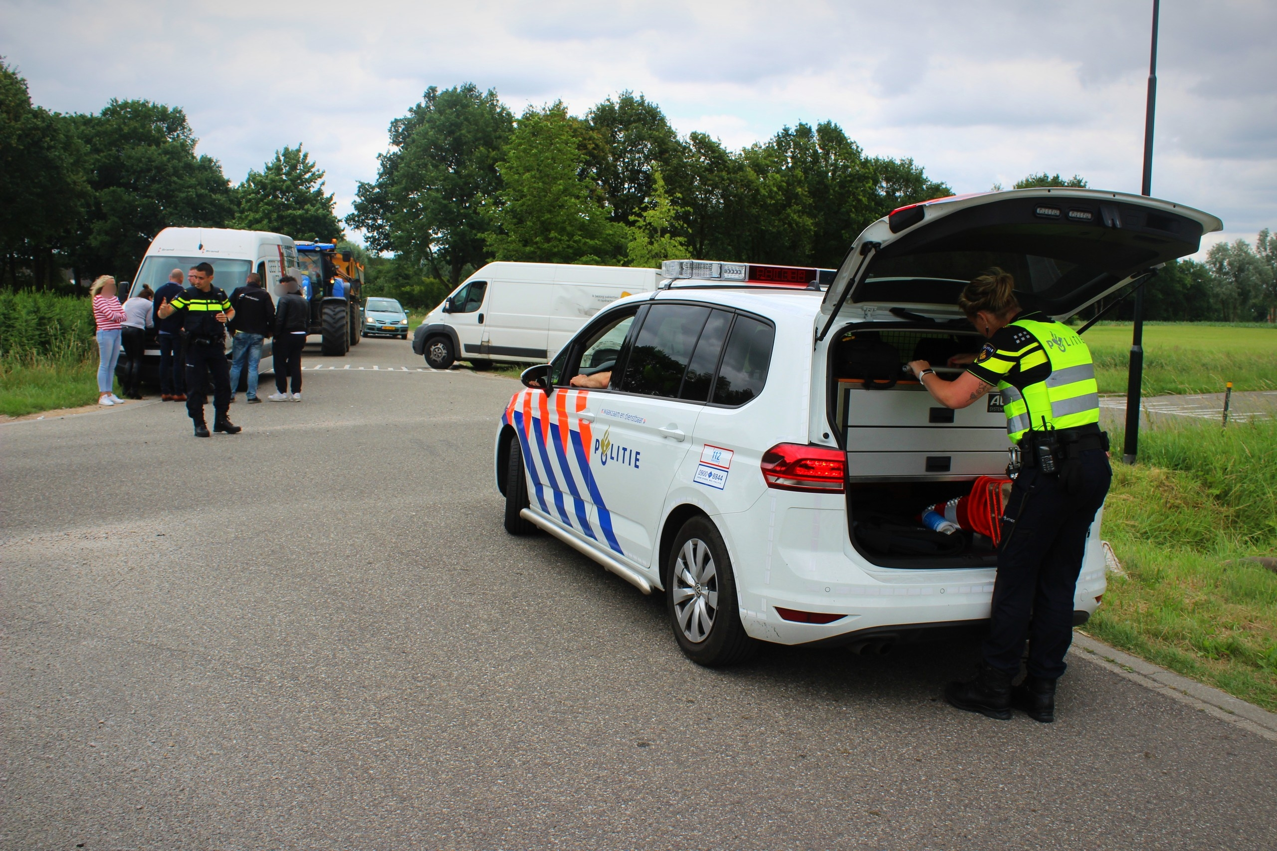 Drie voertuigen beschadigd bij aanrijding