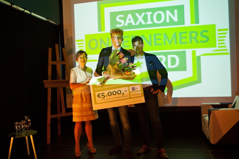 Laurens de Graaff wint Saxion Ondernemers Award 2018