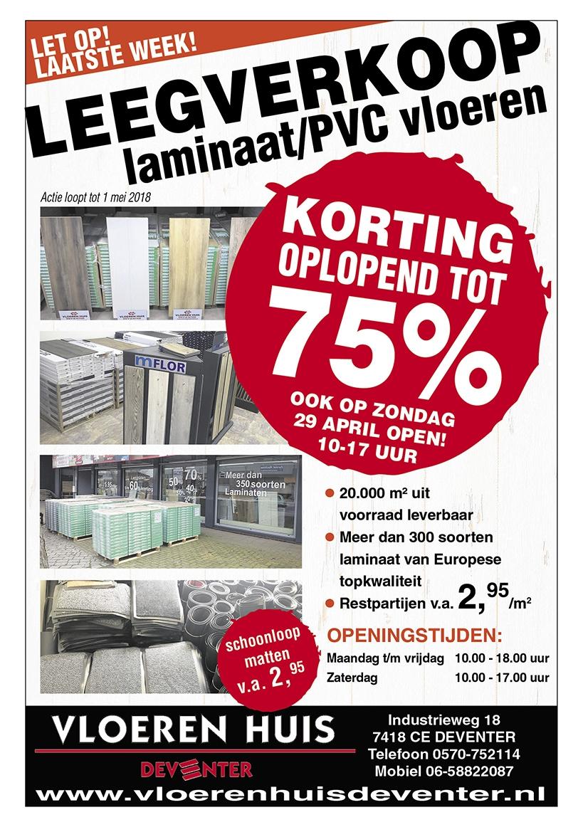 Leegverkooplaminaat/PVC vloeren