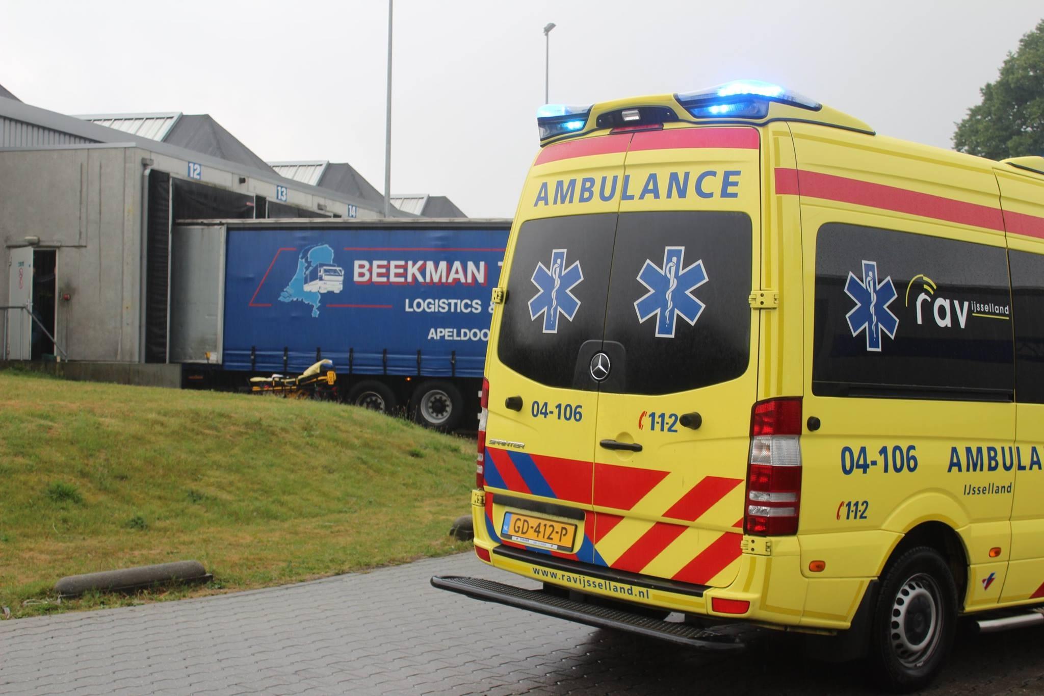 Ongeval op Terrein Beekman Transport