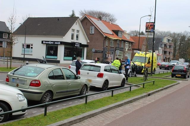 Ongeval met drie voertuigen