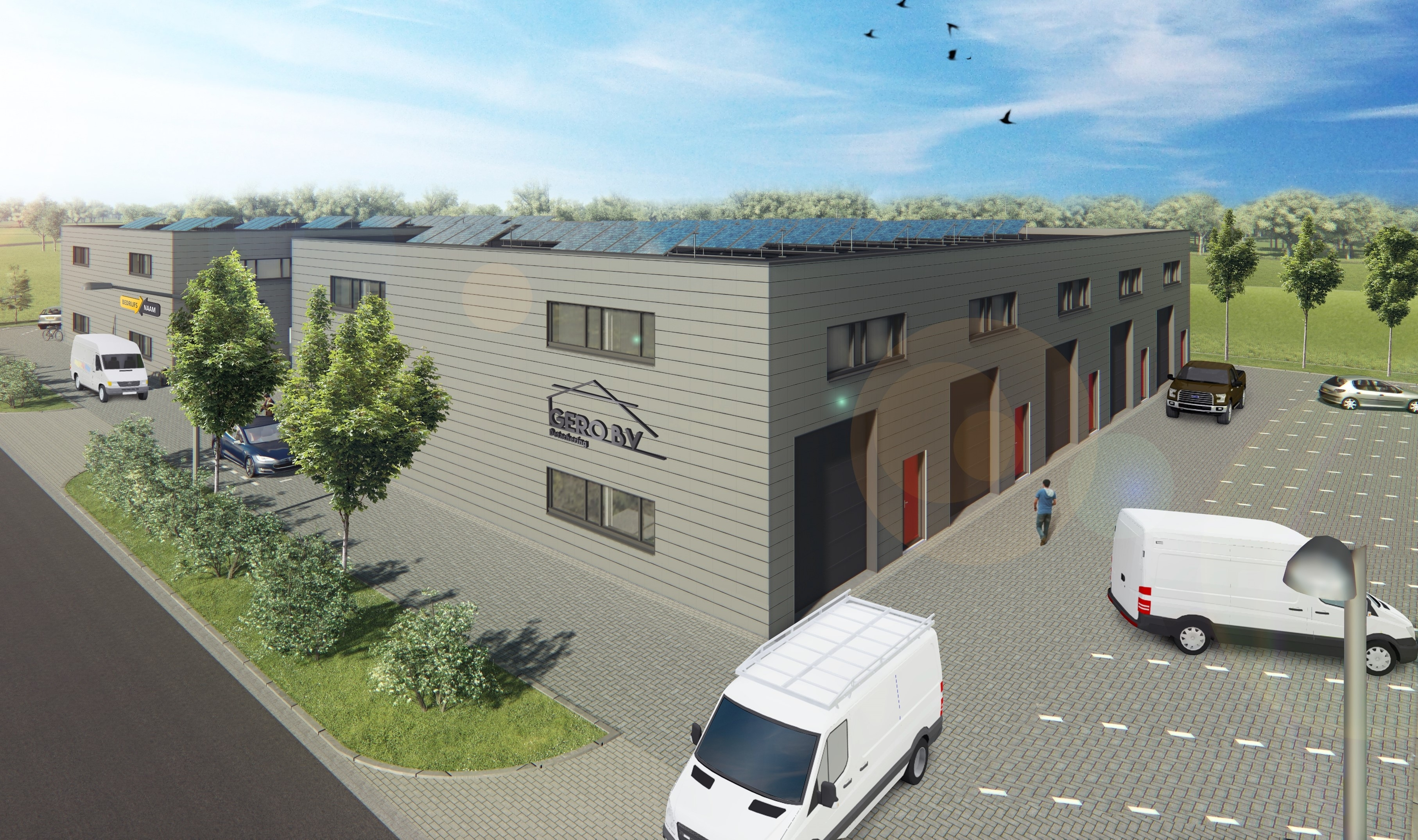 Bedrijfsverzamelgebouwen op A1 Bedrijvenpark Deventer
