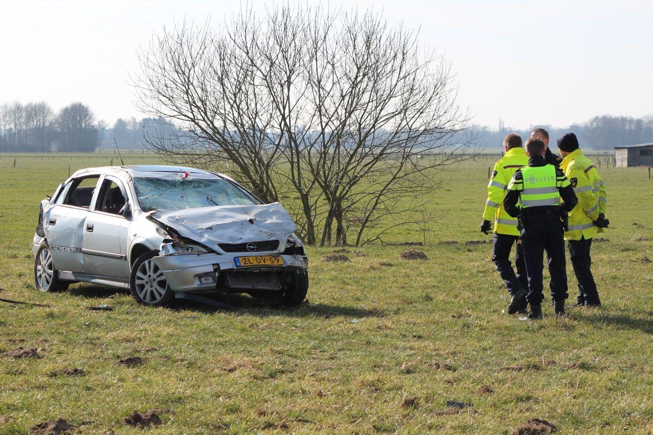 3 gewonden bij ernstig ongeval