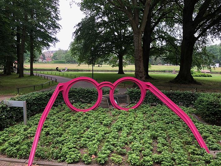 Bekijk het levendoor een roze bril