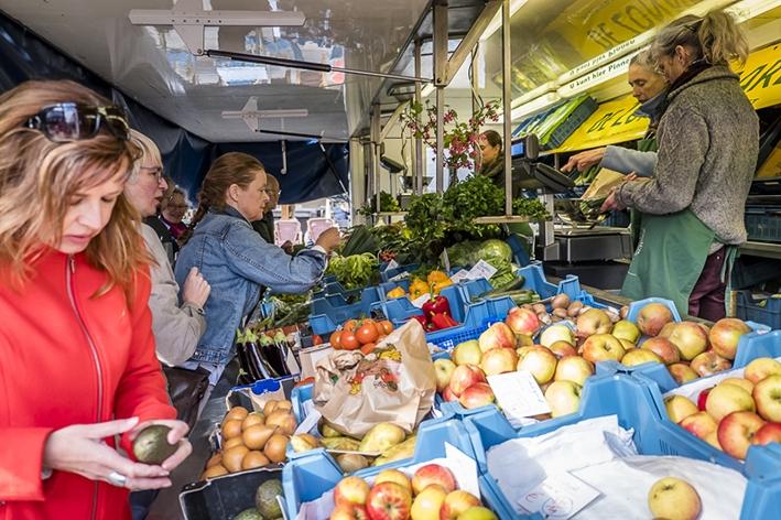Biologische markt op nieuwe plek