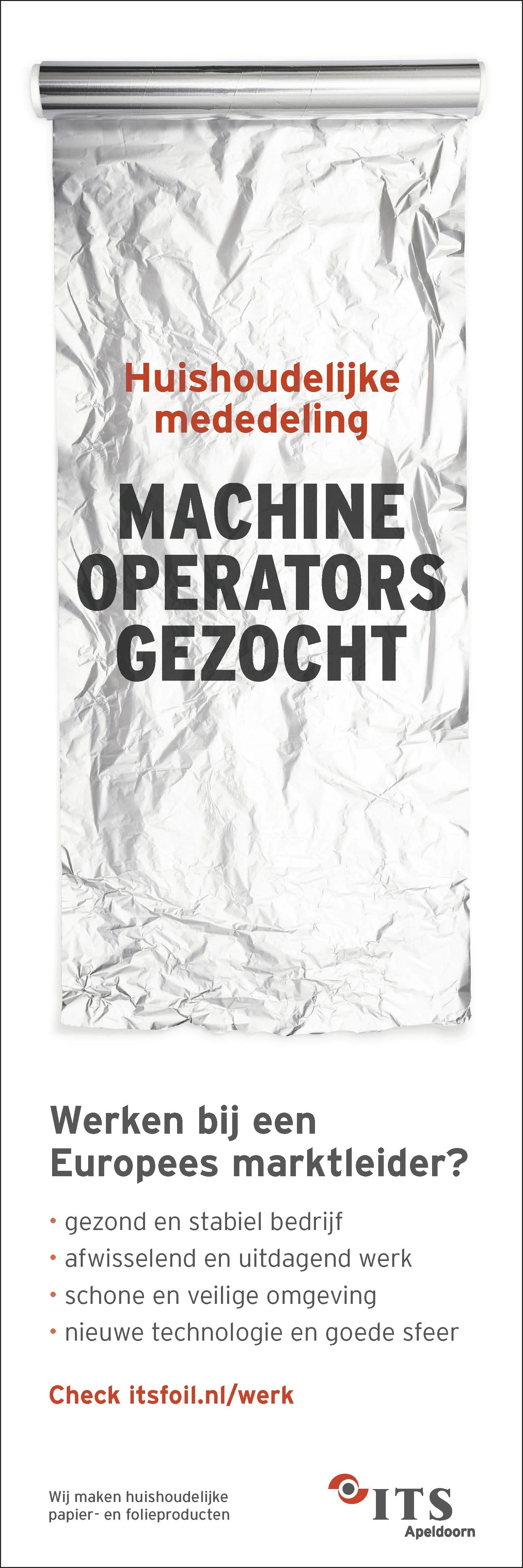 MACHINE OPERATORS GEZOCHT