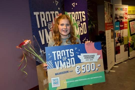 "Loes Arends wint finale Trots op vmbo"""