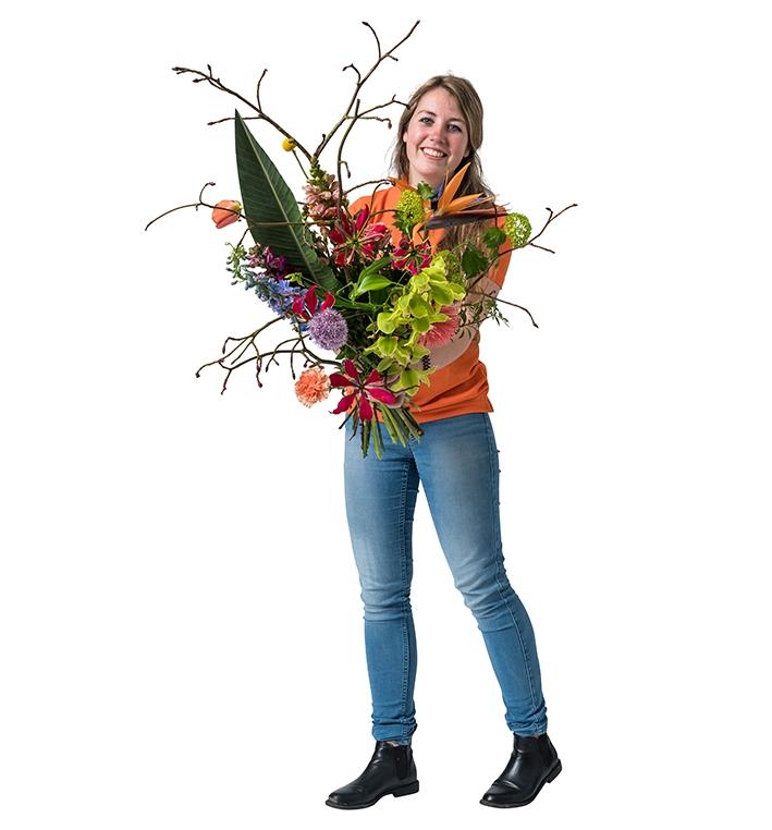 Esther gaat voor Europese titel bloembinden