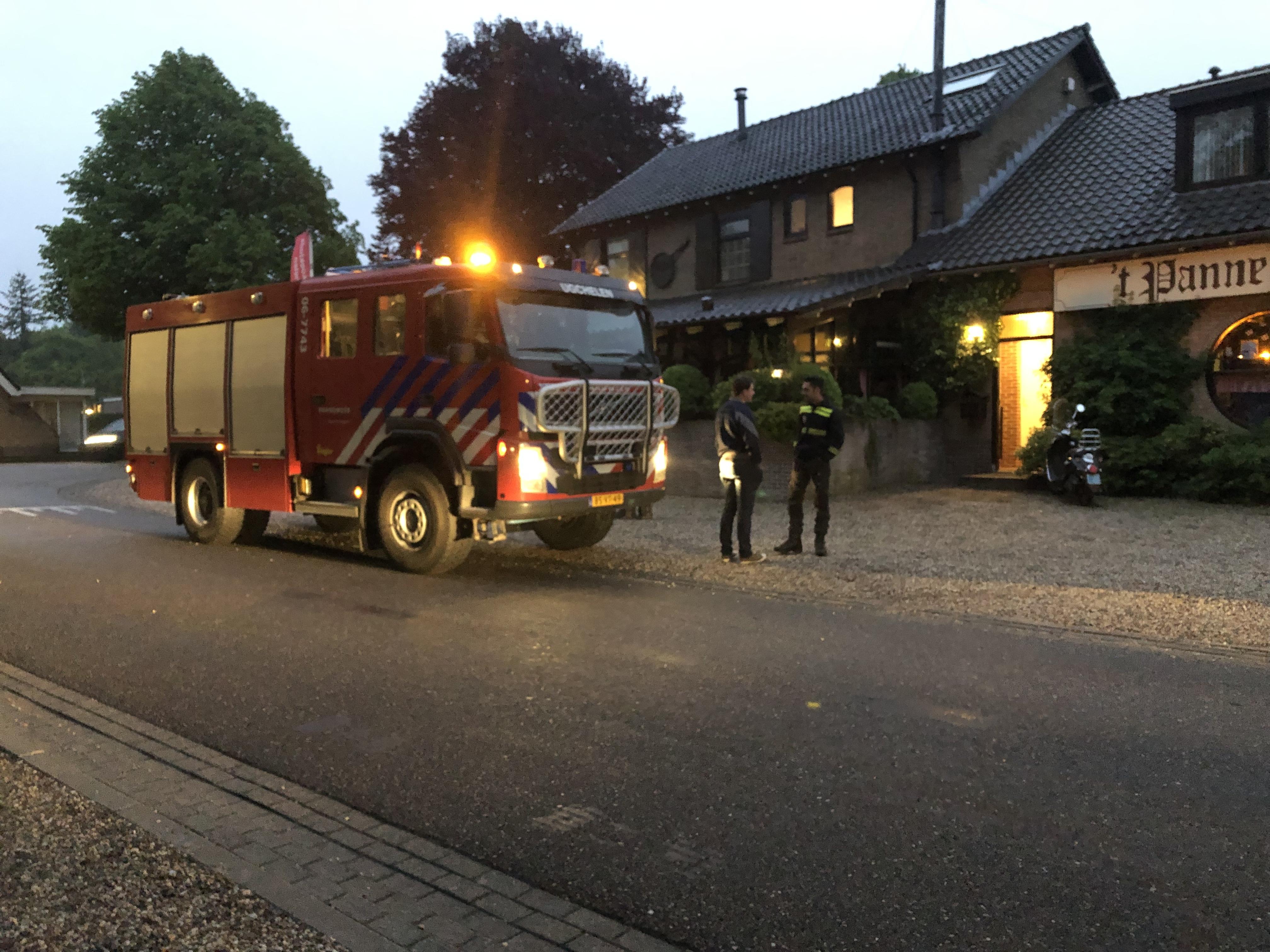 Waterlekkage laat brandalarm afgaan bij Pannekoekenhuis in Ugchelen