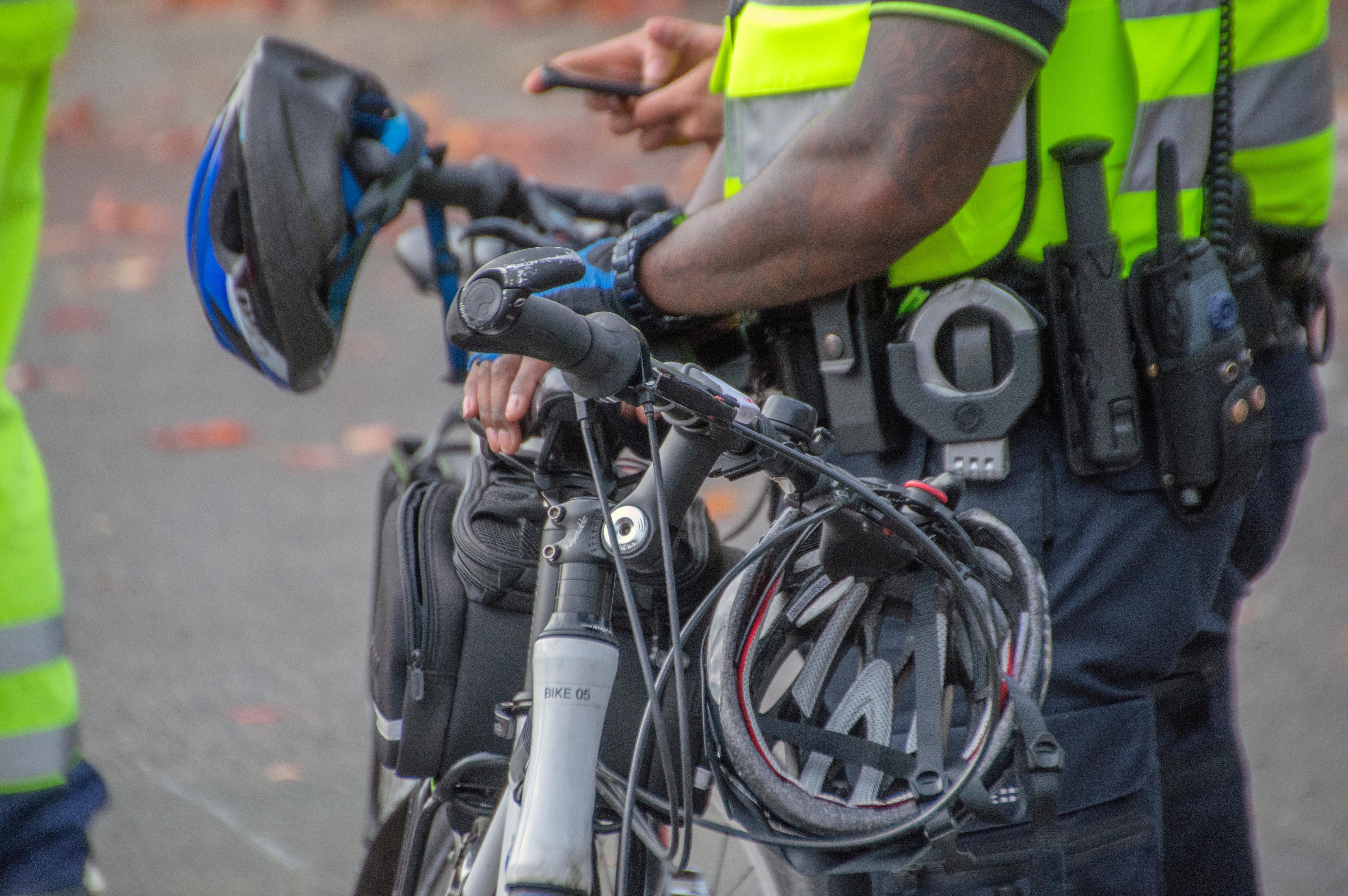 Meer agenten fietsend naar werk